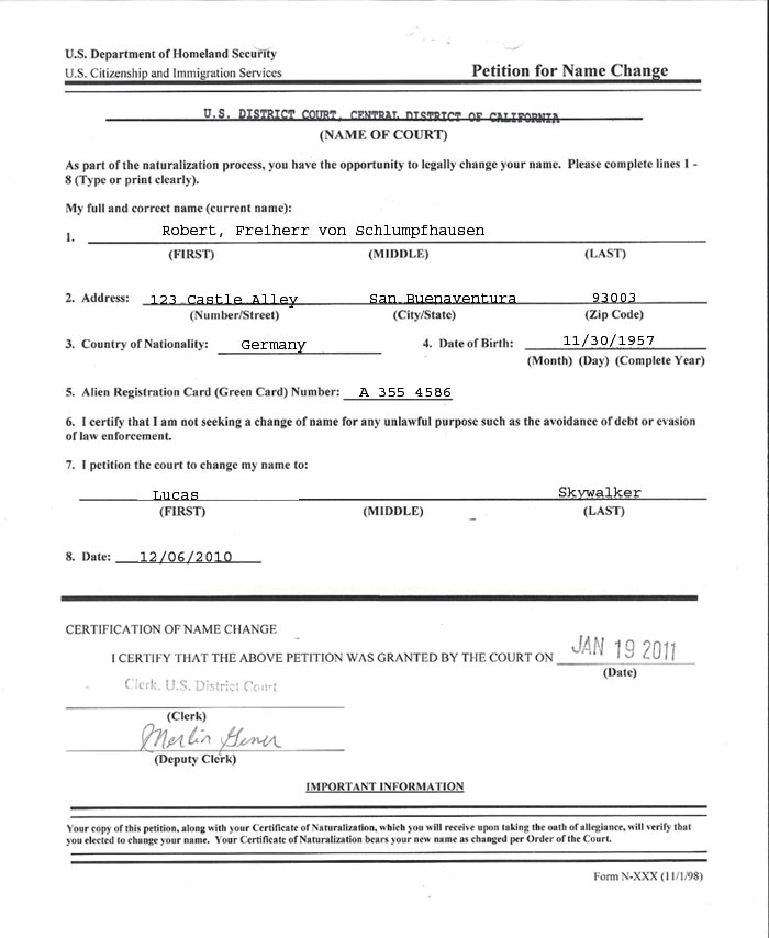 Name Change Form Nameform Jpg Name Change With N Us Citizenship