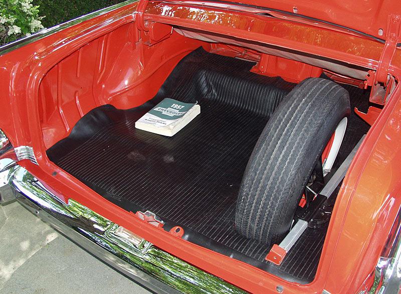 A Matador Red 1957 Chevy Bel Air Convertible