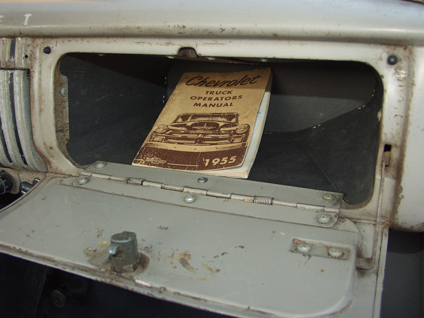 C Glovebox Remote on 1954 Chevy Truck Engine
