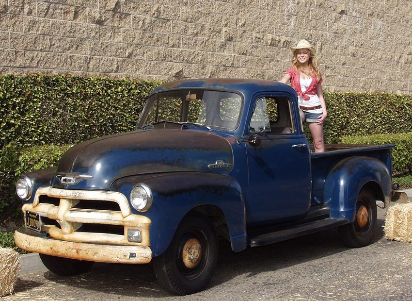 An All Original 1955 Chevy Stepside Shortbed Pickup