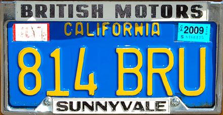 California Blue License Plate Paint Code