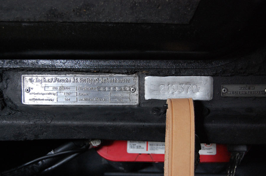 Porsche Chassis Numbers Check