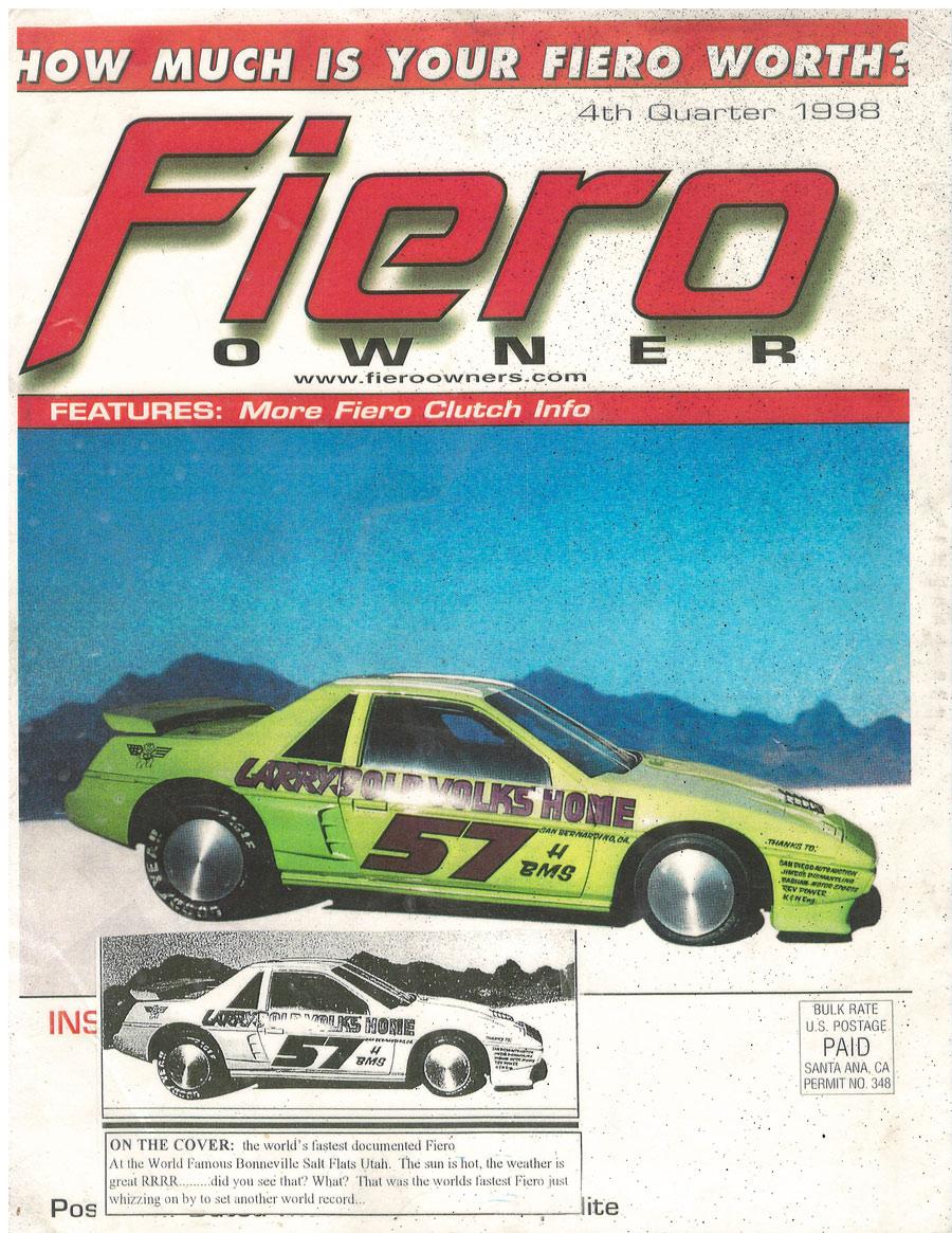 Junkyard San Bernardino >> A Turn Key Pontiac Fiero Land Speed Race Car, now for sale at Californiaclassix.com!